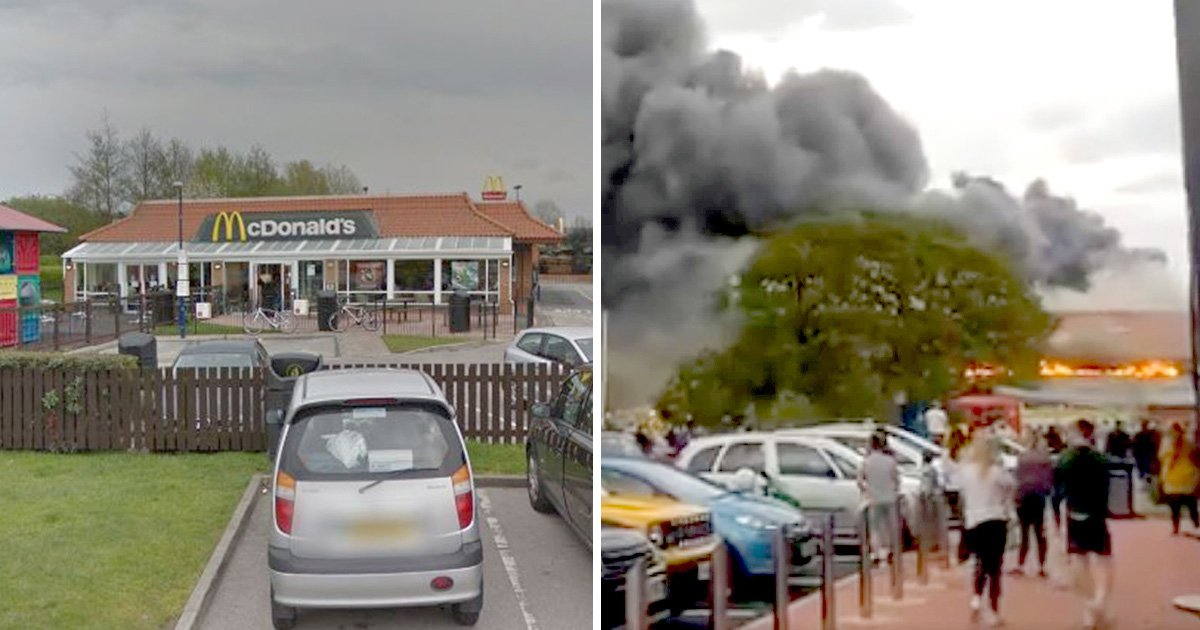 McDonald's refuses to give free hot drinks to firefighters tackling huge blaze